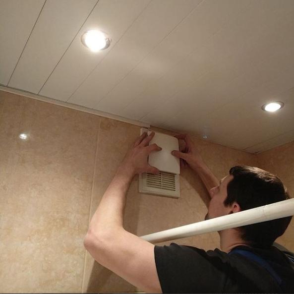 Вытяжной вентилятор Marley MC 100 VN - монтаж в ванной комнате