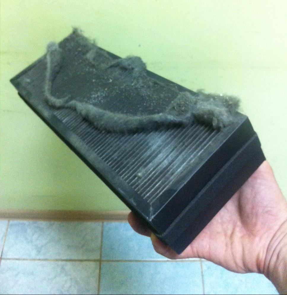 Загрязненный фильтр бризера Тион О2