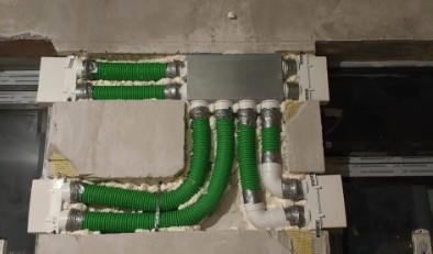 Разводка гибкими воздуховодами Blaufast с коллектором