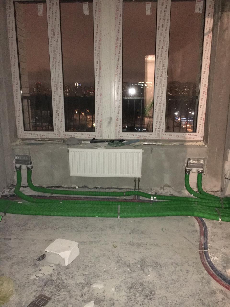 """Разводка """"зелеными"""" воздуховодами"""