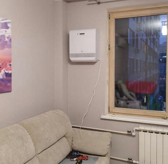 Бризер Тион О2 с монтажом на стену