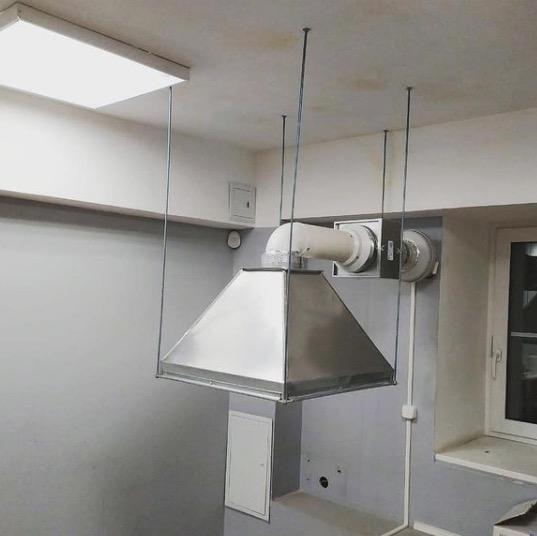 Кухонный зонт с угольным фильтром