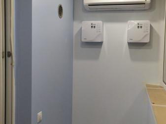 Бризеры и кондиционер на лоджии с перетоком в комнаты. Готовое решение за 137 т.р.