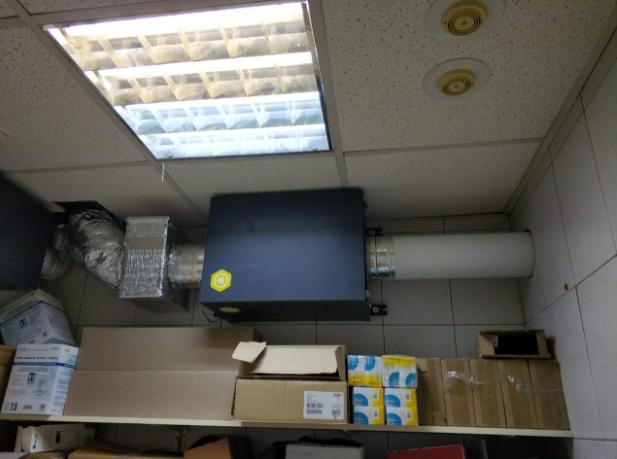 Система вентиляции с воздуховодами