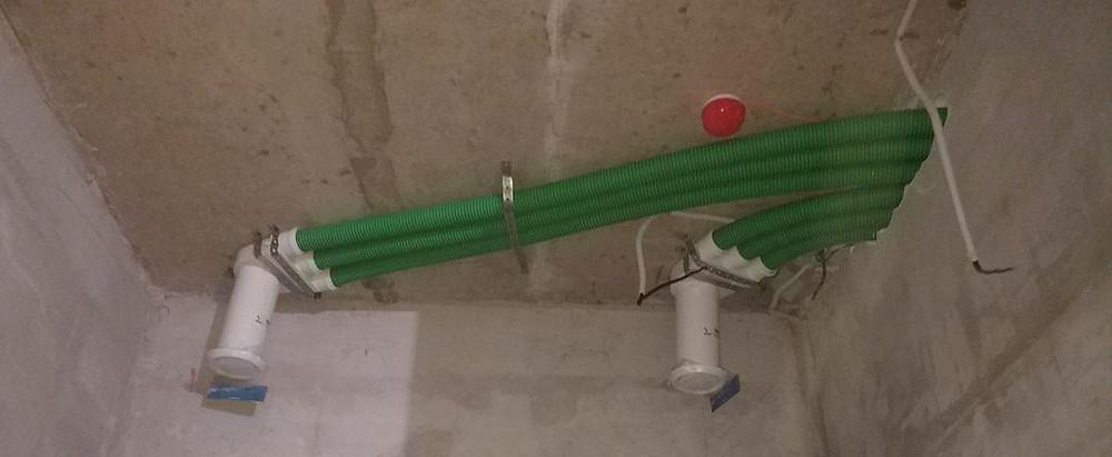Смонтированная система воздуховодов