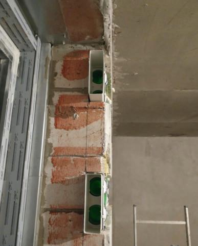 Гибкие воздуховоды Blaufast утоплены в стене
