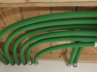Гибкие зеленые воздуховоды Blaufast