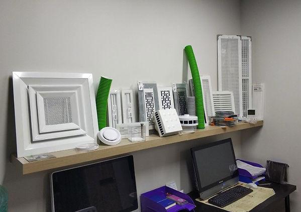 Шоурум компактной вентиляции: распределительные лементы и расходные материалы для монтажа