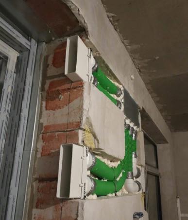 Разводка гибкими воздуховодами Blaufast без ущерба для площади квартиры