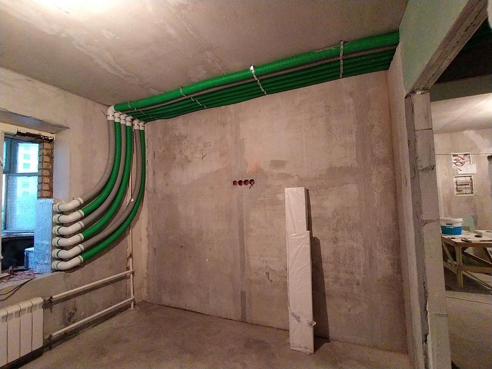 Воздуховоды Blaufast с прокладкой по стене и потолку