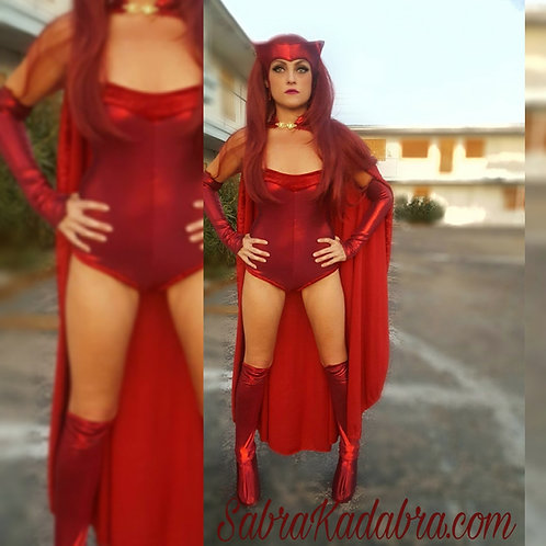 Marvel Scarlett Witch Cosplay Halloween Costume