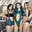 Thumbnail: 2 piece 420 cutout color block bikini