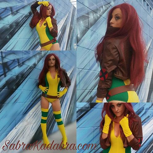 Marvel Xmen Rogue Jacket Halloween Cosplay Costume