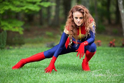 Captain Marvel Cosplay Costume