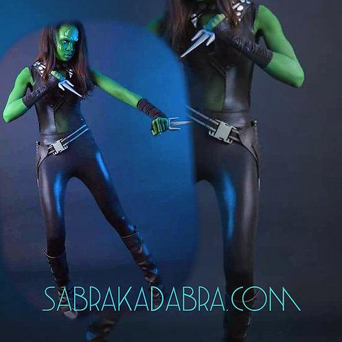 Marvel Guardians of the Galaxy Gamora Dress Cosplay Halloween Costume