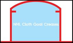 NHL Cloth Goal Crease