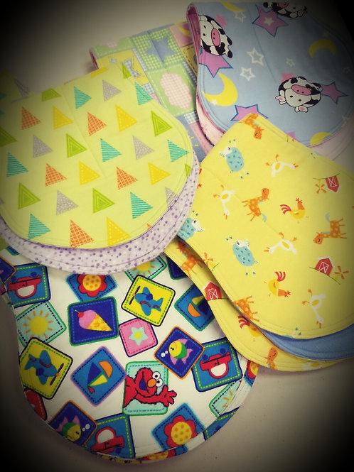 Over the Shoulder Newborn Baby Burp Cloths