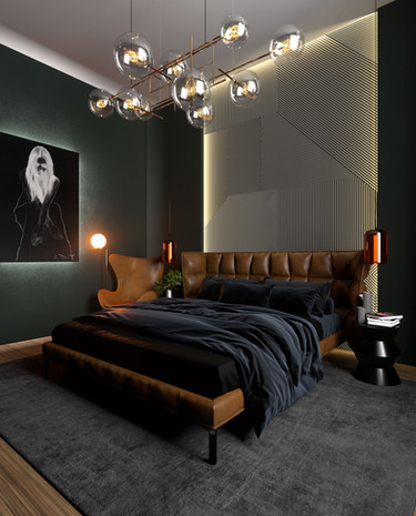 Apartment Nr.40, bedroom visualization