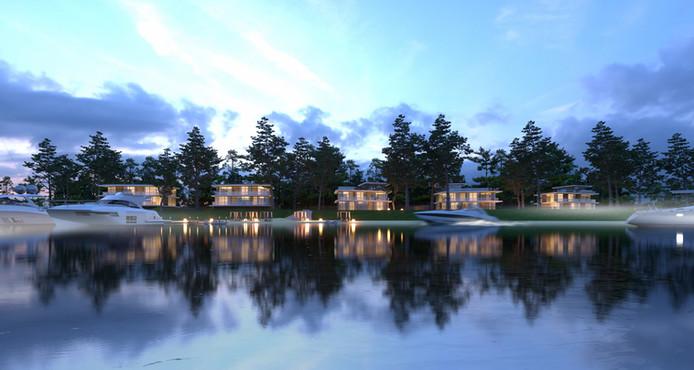 Luxury residential project near sea