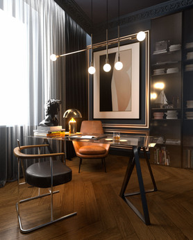 Apartment Nr.40, home office visualization
