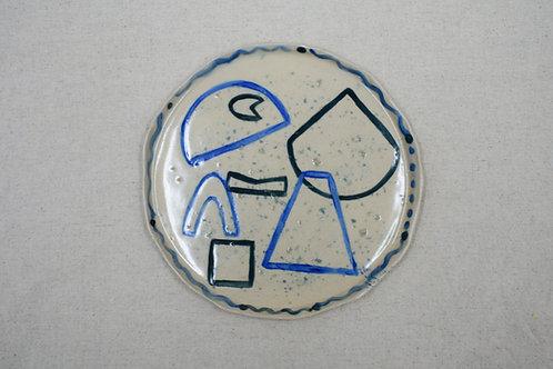 Palm Rays Plate Ella Bulley Studio