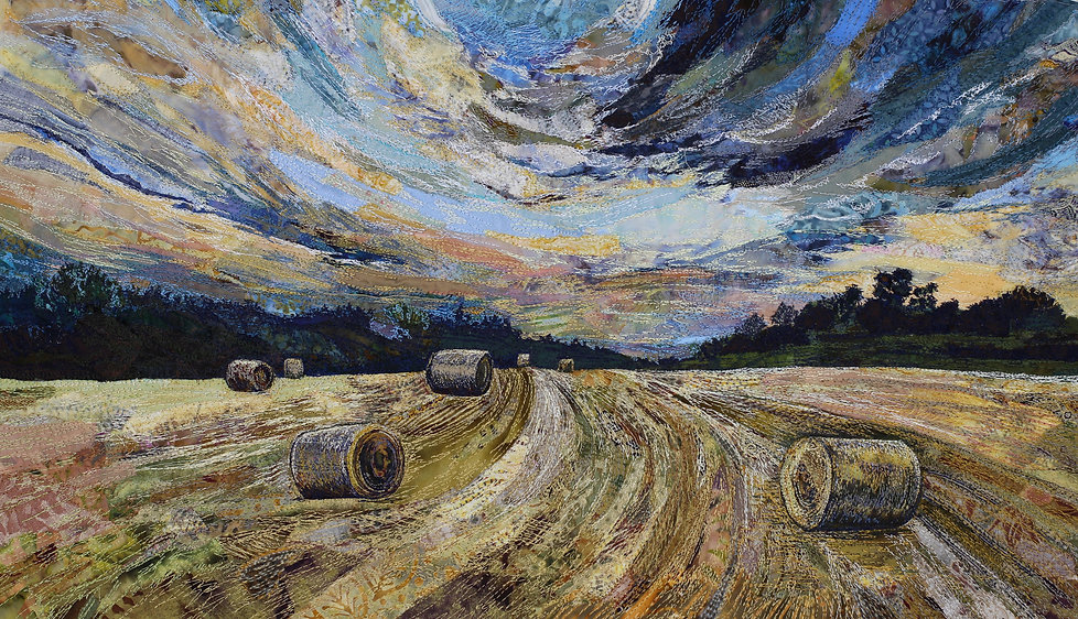 Rachel Wright - Making hay - textile