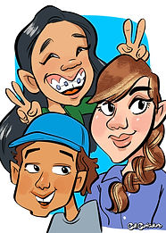 family-caricature-cartoon-faces-drawing-