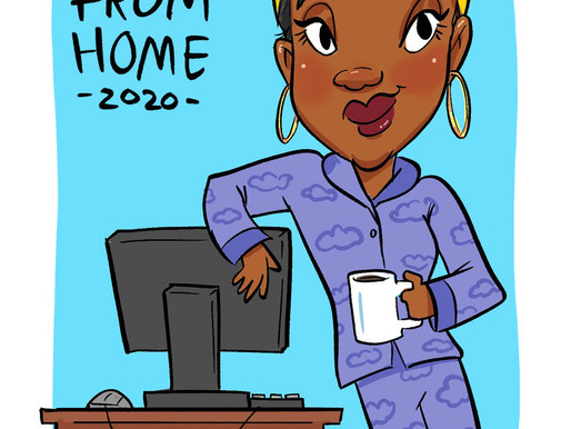 Spotlight: Work From Home Caricature Theme