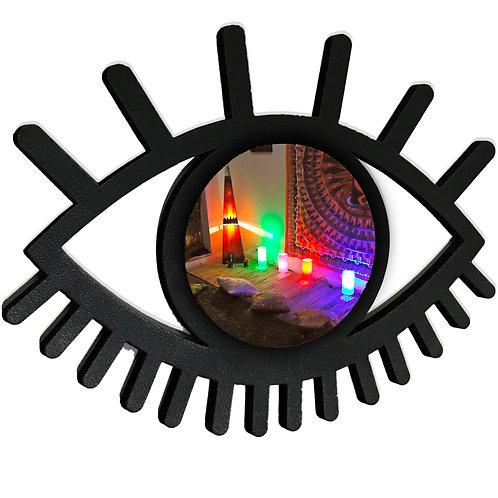 Espelho Decorativo Olho Místico Boho Chic 60cm
