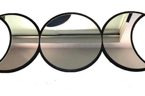 Conjunto Espelho Místico Celestial Fases Da Lua Tripla