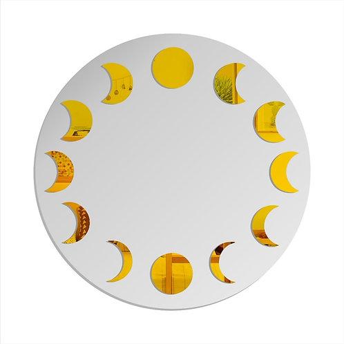 Mandala Lunar Fases Da Lua Decorativa 28cm