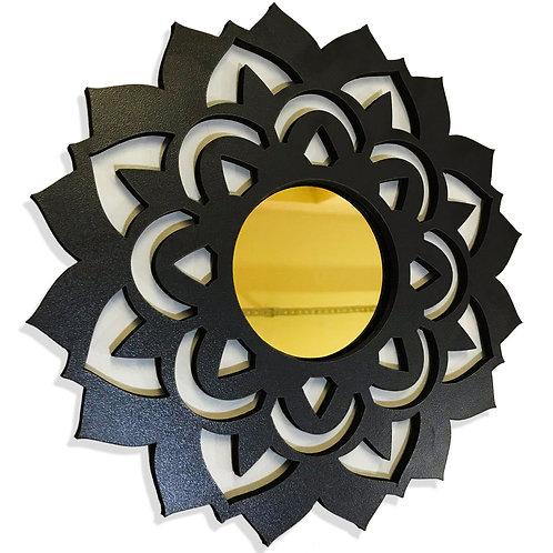 Quadro Espelho Decorativo Mandala Zen Esotérico 26cm