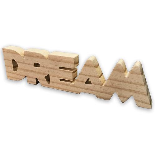 Palavra Decorativa Madeira Dream Enfeite 30cm