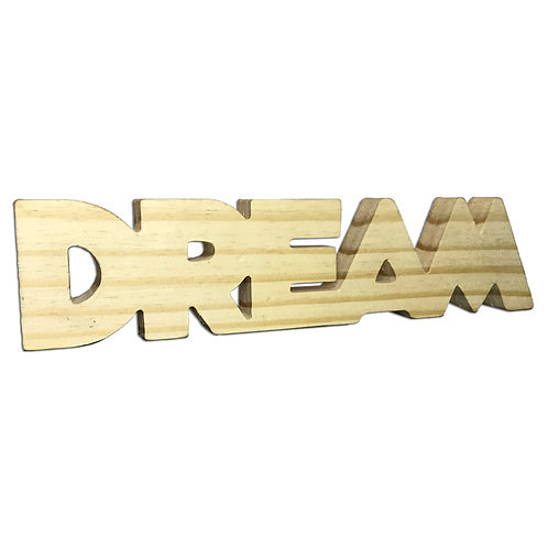 Palavra Decorativa Madeira Dream 30cm
