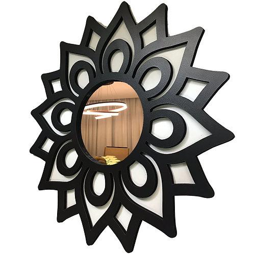 Espelho Mandala Florada Decorativo 40cm
