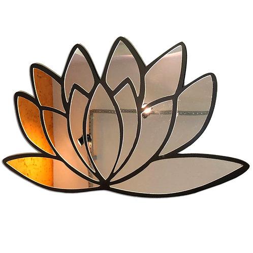 Espelho Decorativo Flor de Lotus Cantinho Zen 50cm 2