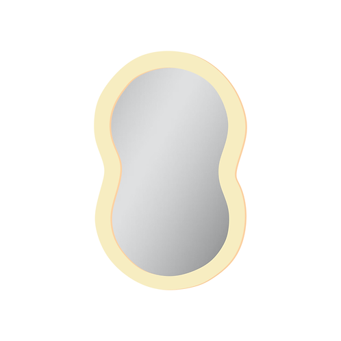 Espelho Bege Acrílico Aesthetic Curvas 35cm