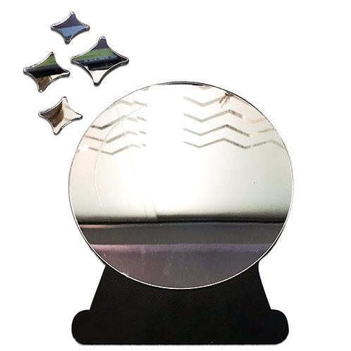 Espelho Decorativo Bola De Cristal Esotérico Místico 20cm