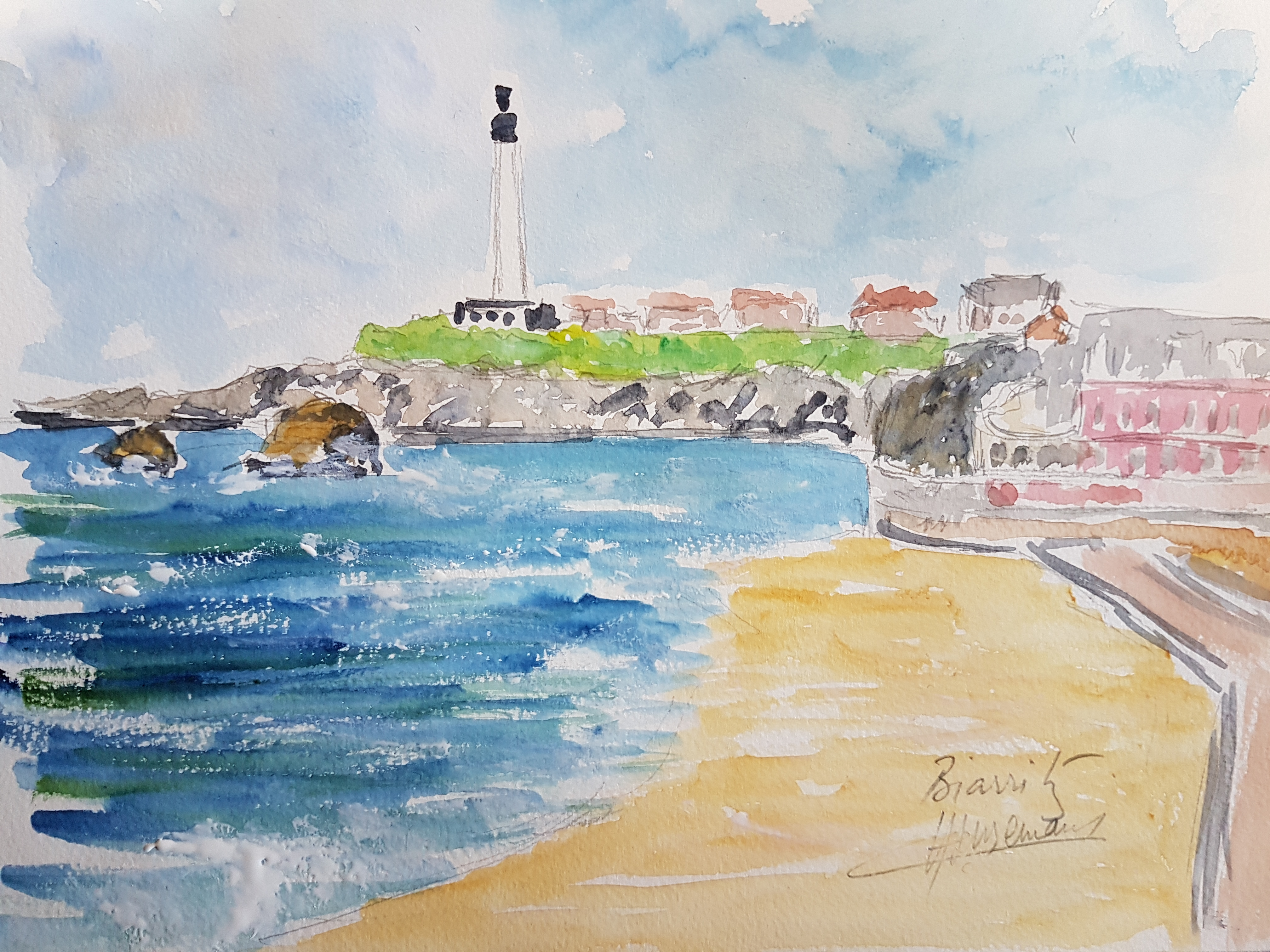 Biarritz plage phare