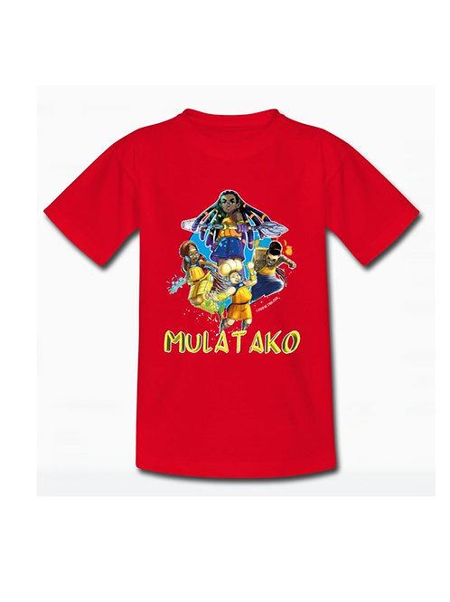 T-SHIRT ENFANT MULATAKO -BLEU, ROUGE  OU NOIR