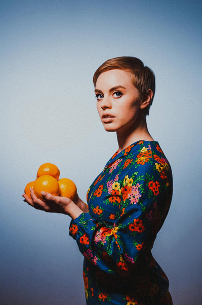 Ursula Searle with Oranges