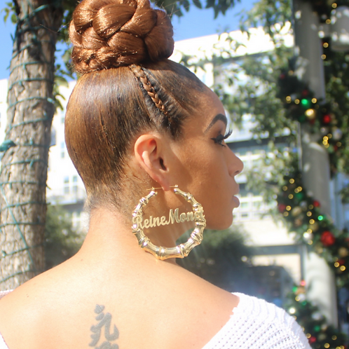 Bamboo Hoops with Name Plate