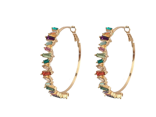 """Colorful Story"" Hoops"