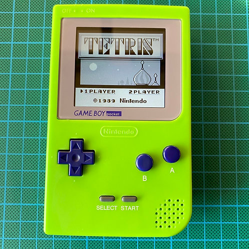 "Backlit IPS Gameboy Pocket - ""Lime Time"""