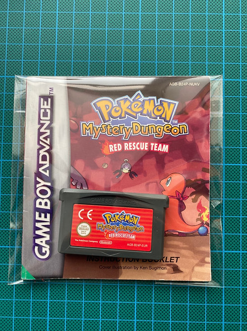 Pokemon Mystery Dunedin Red Rescue Team - Gameboy Advance