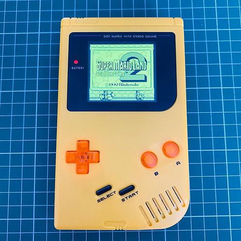 """Backlit IPS V2 Original Gameboy - """"The Golden Coin"""""""