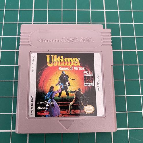 Ultima Runes of Virtue - Original Gameboy