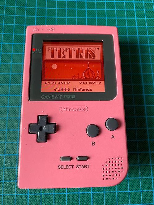"""Backlit IPS V2 Gameboy Pocket - """"Pink"""""""
