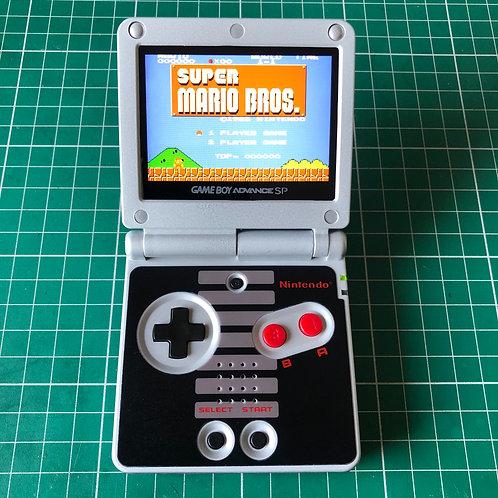 """Backlit IPS V2 Gameboy Advance SP """"1985 Hero"""""""