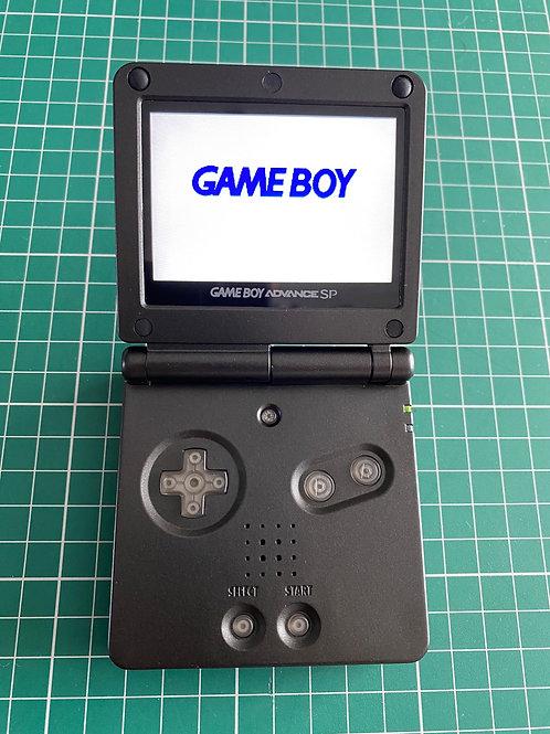 """Backlit IPS V2 Gameboy SP - """"Black Ops"""""""
